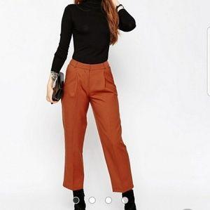 Asos burnt orange trousers